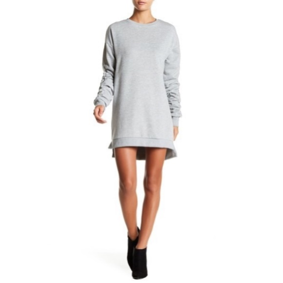 Solutions! Dresses & Skirts - Solutions! Ruched Sleeve Sweatshirt Dress